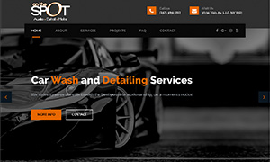 Website Design, SEO, Business Cards for Car Wash Company